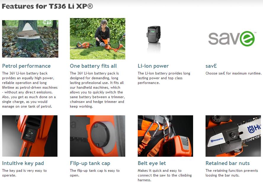 Husky T536LiXP Features