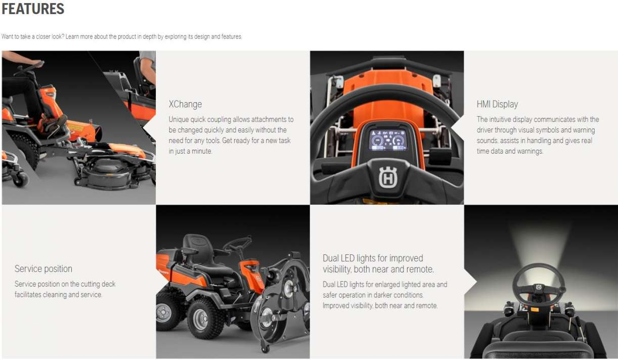 Husqvarna Rider 418TsAWD Features