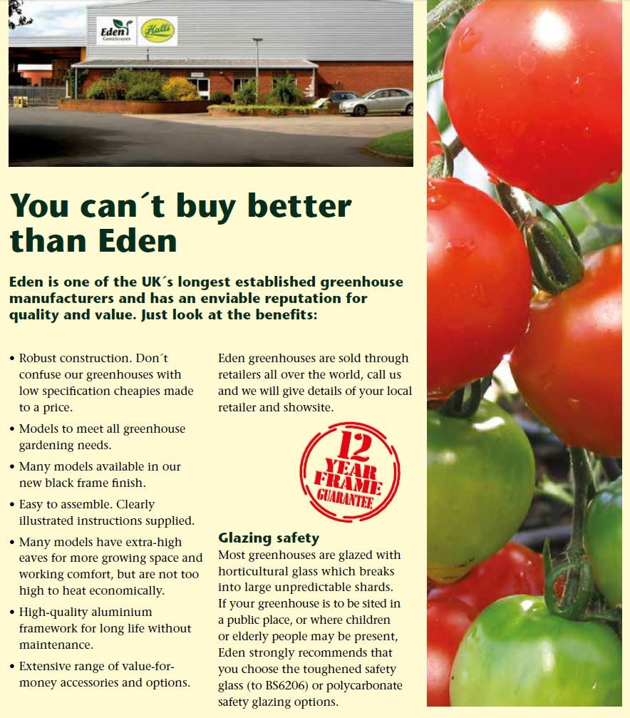 Why EDEN Greenhouses ?