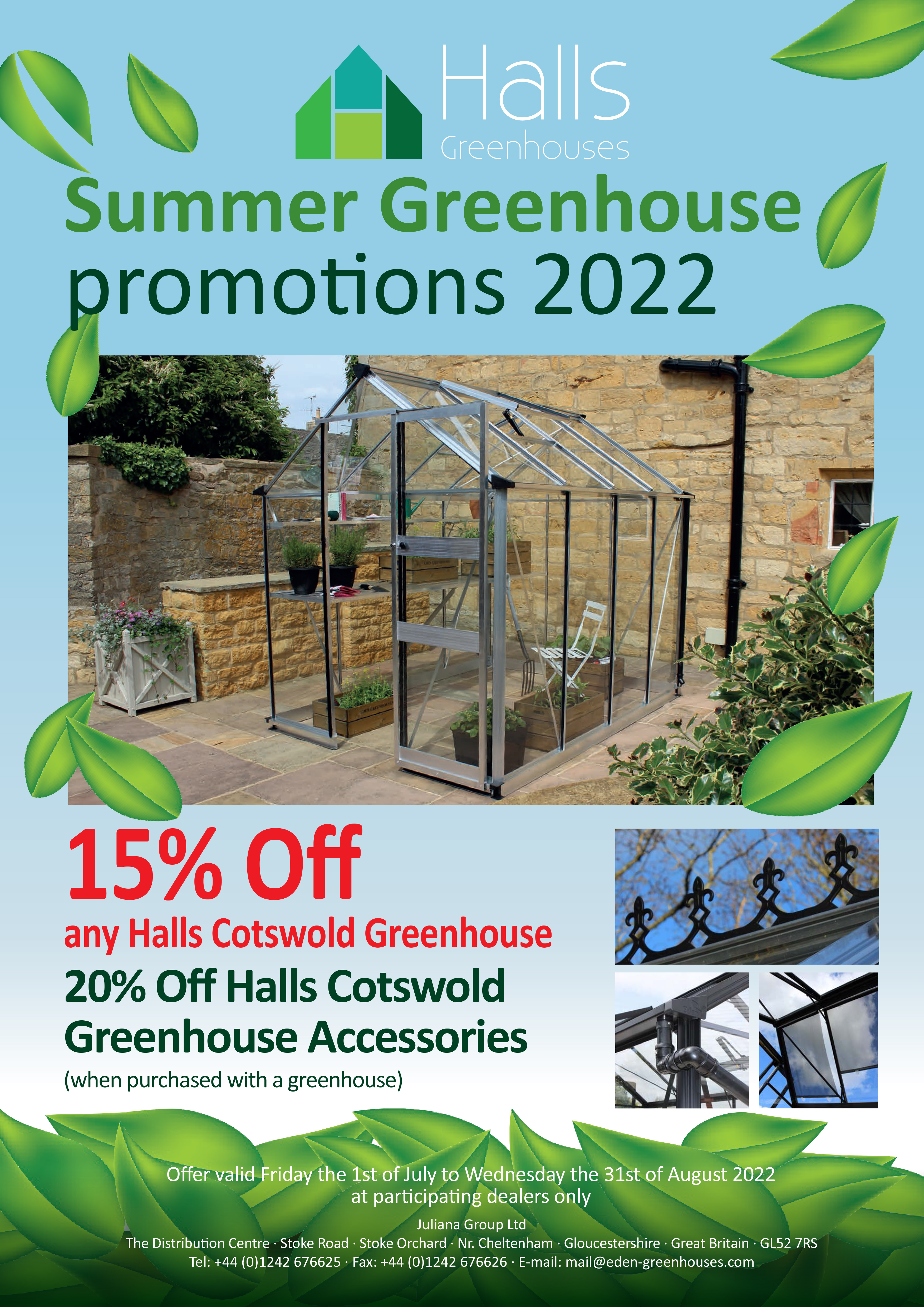 Eden and Halls Greenhouses - Current Offer