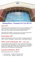 OPENING HOURS - Christmas & New Year