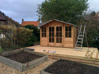 Nice Summerhouse Install by Steam and Moorland - November 2015