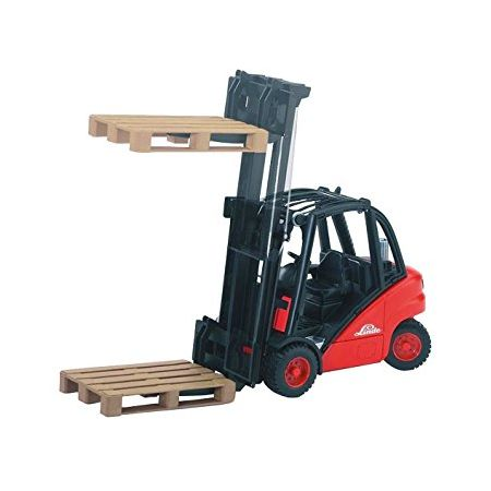 Bruder 02511 Linde H35 forklift and pallets