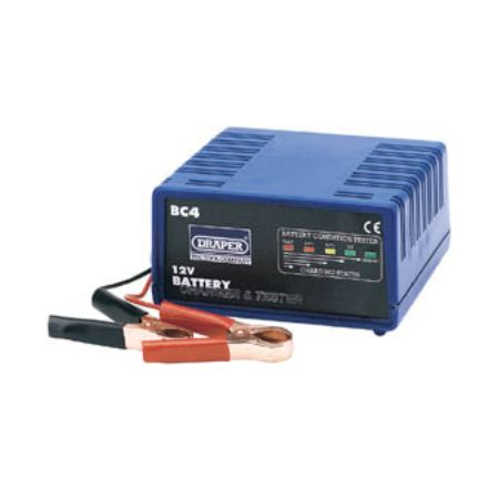 Draper 12v battery charger and tester - Draper 72848