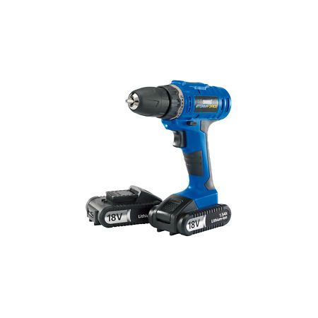 Draper 18V Li-on Cordless Rotary Drill With 2 Batteries