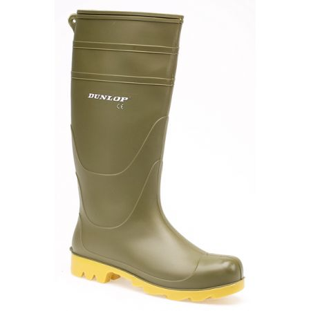 Dunlop adult wellie green size 6