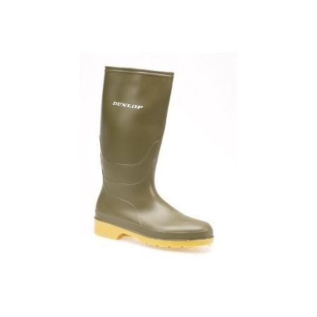 Dunlop youth wellies green size 10
