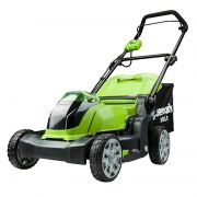 GREENWORKS 40V 41CM RECHARGEABLE LAWNMOWER 2 X BATTERIES