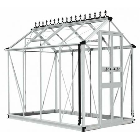 Halls Cotswold BIRDLIP Greenhouse 48 Aluminium Long pane Toughened glass