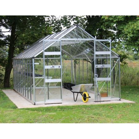 Halls Cotswold BOURTON Greenhouse 1012 Aluminium 6mm Polycarbonate