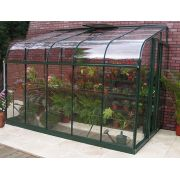 Halls SilverLine 612 Forest Green Lean-To 12x6 Toughened Glass