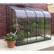 Halls SilverLine 68 Forest Green Lean-To 8x6 Toughened Glass