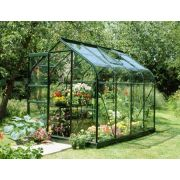 Halls Supreme 68 Forest Green Greenhouse 8 x 6 Toughened Glass Long Pane