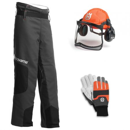 Husqvarna Chainsaw Protective Kit Helmet / Gloves / Chaps