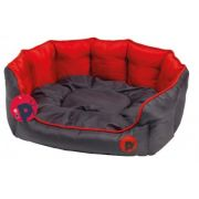 Pet Face Oxford Oval Bed Red Small 15080