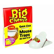 STV Big Cheese Quick Click Pre Baited Mouse Traps 2 pack