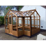 "Swallow CYGNET ThermoWood Greenhouse 2035x3490 or 6'8 x 11'5 ""T-shaped"" - image 1"