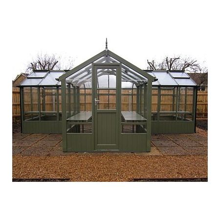 "Swallow CYGNET painted Greenhouse 2035x3490 or 6'8 x 11'5 ""T-shaped"""