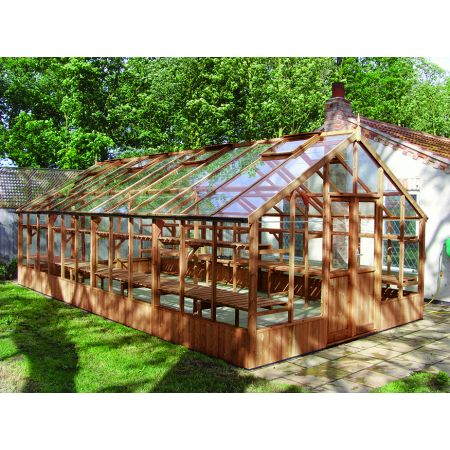 Swallow FALCON ThermoWood Greenhouse 3900x3840 or 13'1 x 12'7 Double Doors - image 1