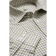 Tattersall check shirt navy/olive