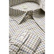 Tattersall check shirt wine/blue/green