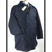 Waxed jacket navy