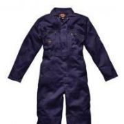 Zip front coverall navy